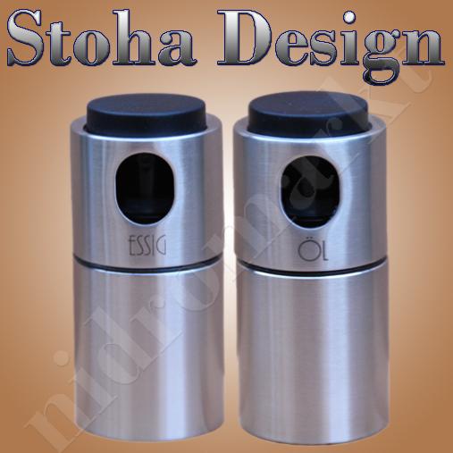 stoha design edelstahl set essig l spray hochwertig ebay. Black Bedroom Furniture Sets. Home Design Ideas